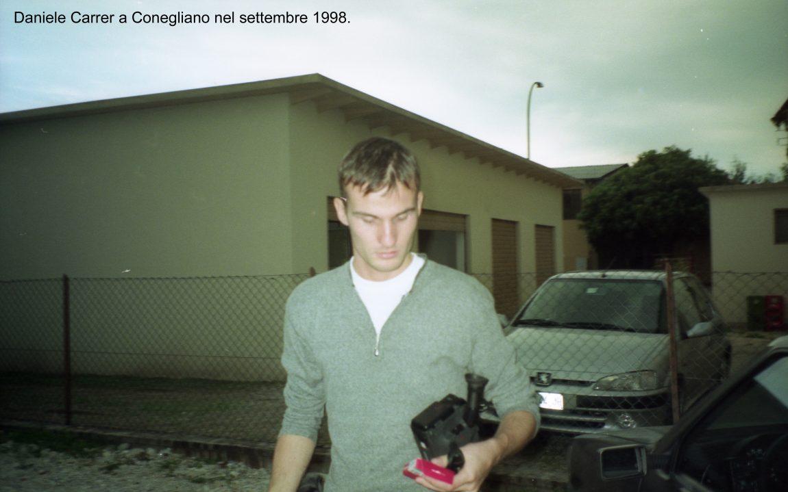 Daniele Carrer a Conegliano nel settembre 1998
