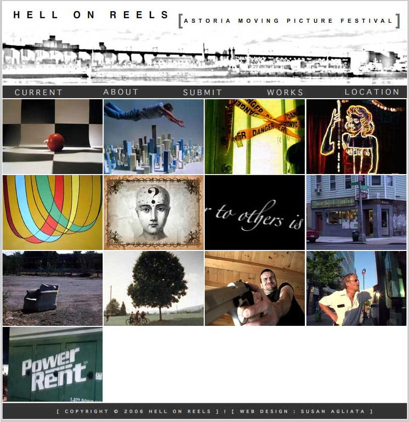 L'home page dell'Astoria international film festival 2006 mostra un fotogramma di anteprima tratto dal cortometraggio Italia 2006 di Daniele Carrer