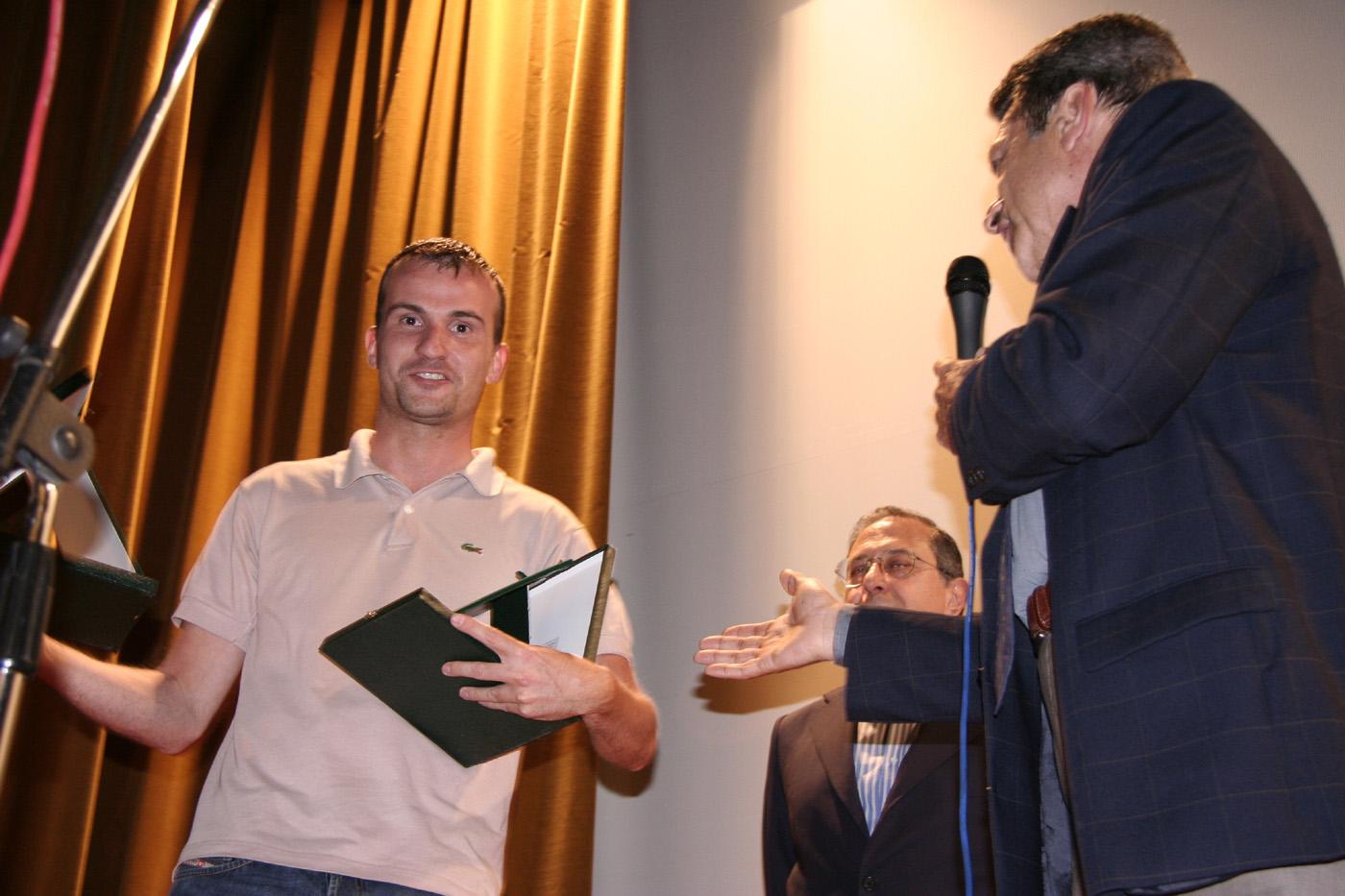 Daniele Carrer premiato a Cine Corto Romano 2007