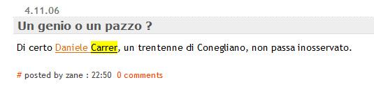 Forum che si chiede se Daniele Carrer è bravo.